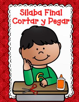 Silaba Final:  Corta y pega actividades para Primero y Kin