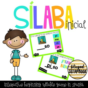 Silaba Inicial Digital (Beginning Syllables Interactive PDF Game)