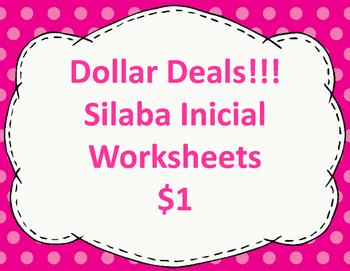 Silaba Inicial Worksheets:  Dollar Deal