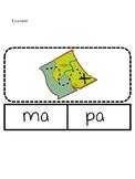 Sílaba Word Building Cards for M and P (español)
