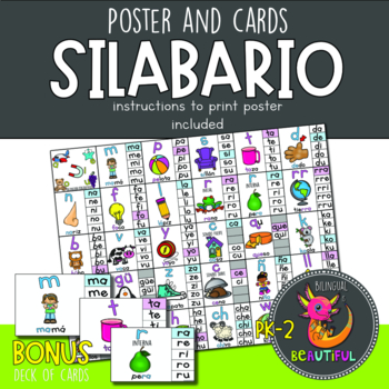 Spanish Syllables - Silabario and Word Wall Headers