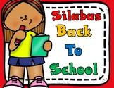 Silabas:  Back to School
