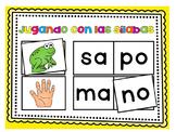 Sílabas - Centro para formar palabras de 2 sílabas / Spani