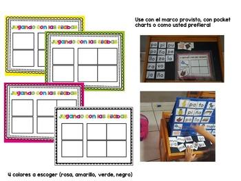 Sílabas - Centro para formar palabras de 2 sílabas / Spanish Syllables (L,R,N,B)