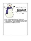 Silabas Directas - WinterThemed Sorting