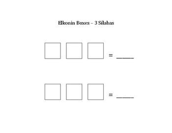 Silabas - Elkonin Boxes
