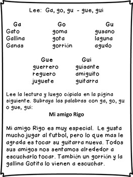 Silabas Formacion de palabras y Escritura