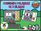 Sílabas  - Formando Palabras de Tres Sílabas (Boom Cards) Pascuas  Easter