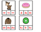 Silabas Iniciales:  Spanish Syllables Clip It Cards
