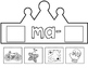 Silabas Iniciales:  Super Hero Spanish Syllable Crowns
