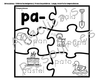 Silabas Iniciales con la letra P - Spanish Initial Syllables
