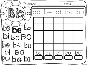 silabas maravillosas syllable graphing in spanish by bilingual scrapbook. Black Bedroom Furniture Sets. Home Design Ideas