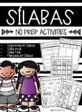 Sílabas No Prep Packet (Spanish)