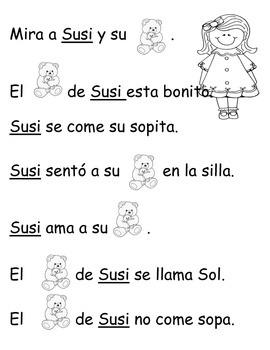 Silabas Para Leer Y Pintar Con S