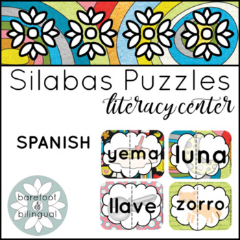 Silabas Puzzles for March (syllable puzzles)