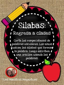 Sílabas - Regresa a clases