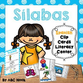 Sílabas - Spanish Clip Cards Literacy Center