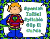 Silabas:  Spanish Initial Syllable Clip It Cards