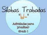 Silabas Trabadas BL- Paquete de actividades {Spanish Conso
