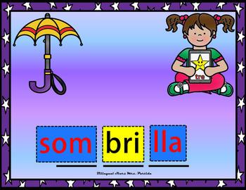 Silabas Trabadas Br  Bl Google Classroom & Google Drive Spanish Forma Palabras