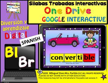 Silabas Trabadas Br  Bl Google Classroom & Google Drive Sp