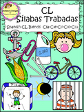 Sílabas Trabadas CL Spanish - CL Blends Clip Art (School Design)