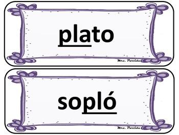 Silabas Trabadas Centro de Palabras-Oraciones Vol.2 Grupos Consonanticos Partida