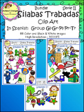 Silabas Trabadas Clip Art Spanish Serie II (Spanish Syllables Blends)