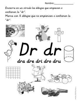 Silabas Trabadas DRA, DRE, DRI, DRO, DRU