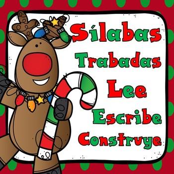 Silabas Trabadas:  December Spanish Blends Word Work