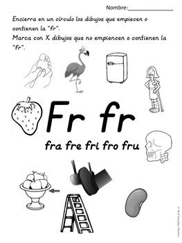 Silabas Trabadas Fra Fre Fri Fro Fru By Dual Language