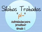 Silabas Trabadas PL- Paquete de actividades {Spanish Conso