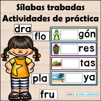Silabas Trabadas  Spanish Blends Activity Cards