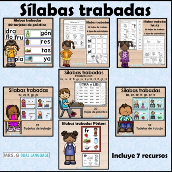 Sílabas Trabadas Spanish Blends Bundle