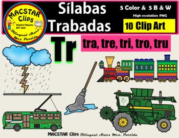 """Silabas Trabadas """"Tr - tr"""" Clip Art Personal and Commercia"""