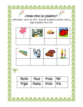 Silabas Trabadas con F/Blends with F-FL and FR (Spanish)