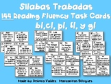 Silabas Trabads Reading FLUENCY CARDS FREE
