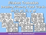 Silabas Trabads Reading Fluency Cards