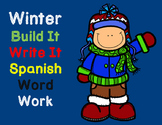 Silabas:  Winter themed Spanish Syllables Word Work, Build