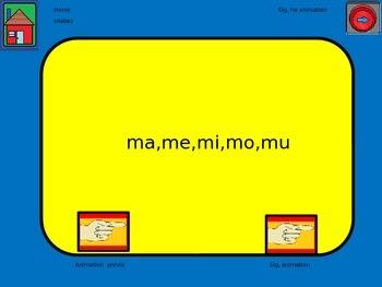 Silabas animadas,ma,me,mi,mo,mu