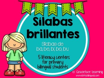 Sílabas brillantes – Spanish phonics activities for ba, be
