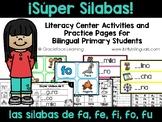 Sílabas fabulosas – Spanish phonics activities for fa, fe, fi, fo, fu