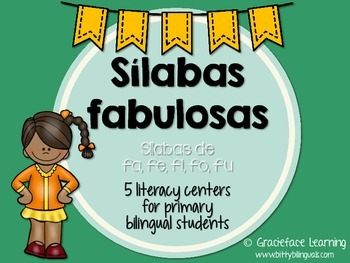 Sílabas fabulosas – Spanish phonics activities for fa, fe,
