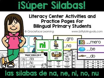 Sílabas necesarias – Spanish phonics activities for na, ne