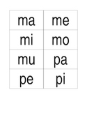 Silabas cards for word work in Spanish