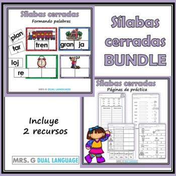 Sílabas cerradas Spanish Closed Syllables Bundle