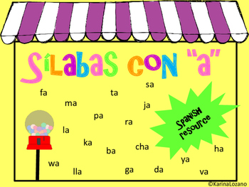 Silabas con A Bundle (Spanish)