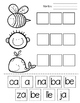 Sílabas con A E I O U - Worksheets and Games for Spanish Syllables