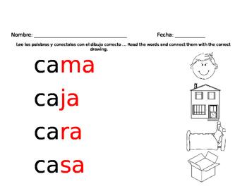 Silabas con A ... Syllables with A