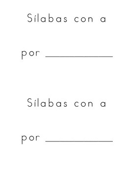 Silabas con A book